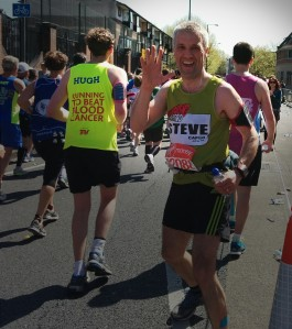 Steve Woodhead during the London Marathon 2014