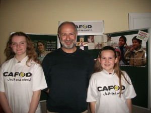 Caitlin, Fabian and Shona at the Syria event in north Leeds