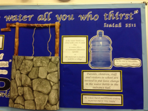 The CAFOD display in the main hall