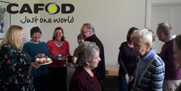 Volunteer Coffee Morning 13th April 2016 with CAFOD logo