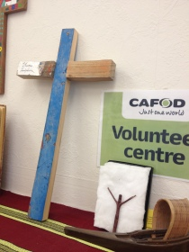 Lampedusa cross in the Leeds Volunteer Centre