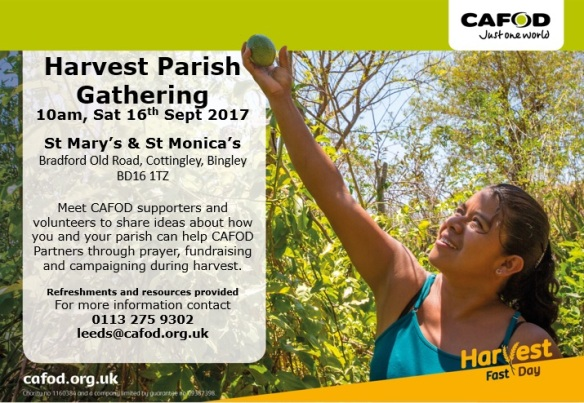 Harvest Parish Gathering St Marys and St Monicas Bingley Sat 16th Sept 2017