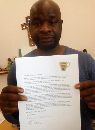 FairTrade Patrick letter