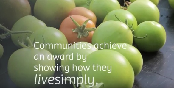 Live simply tomatoes and quote about the award