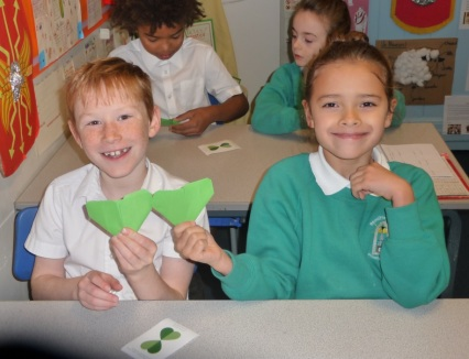 Roecliffe students green hearts