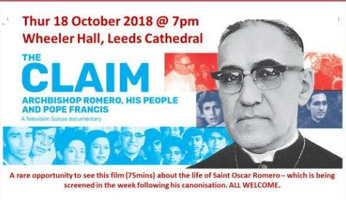 Romero film leeds Thur 18th Oct