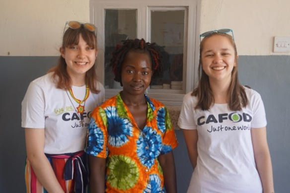 Madeline Woods with Nicole, Clementina in Uganda