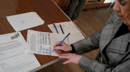 St Aelred's Creation Celebration Signing the petition
