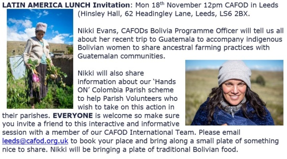Nikki Evans Latin American Lunch and talk