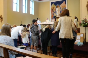 Creation Celebration Childrens Liturgy Procession St Urbans 2019 children bowing